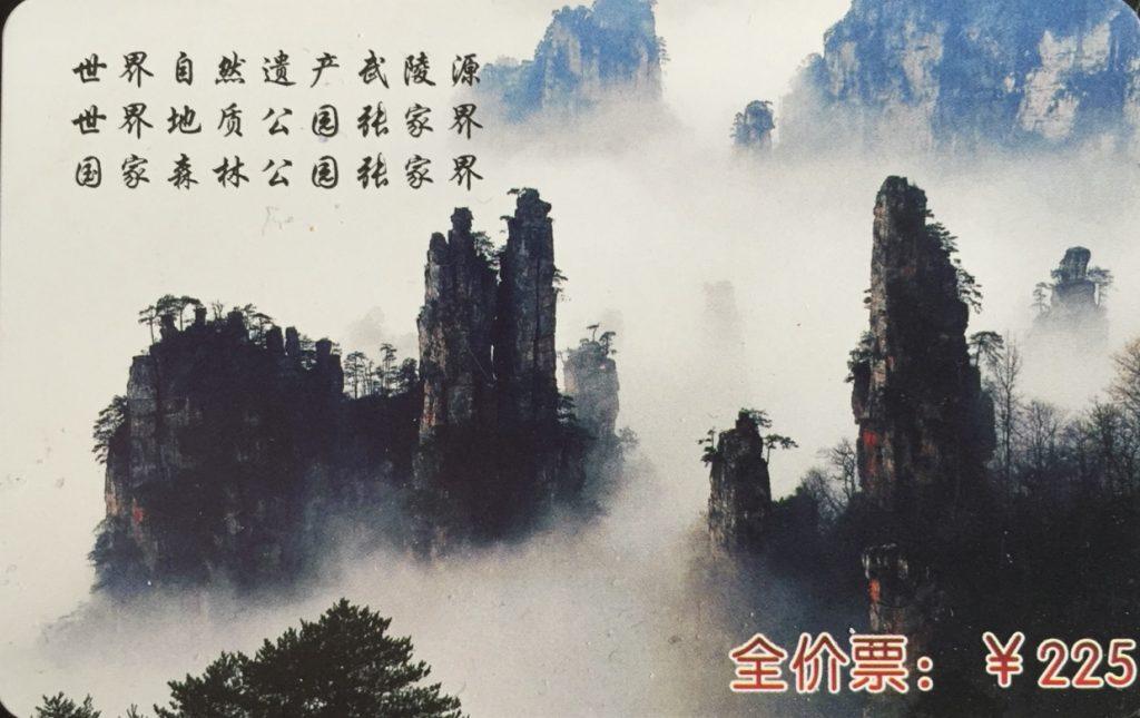 Entrada Parque Avatar Wulinyuan 1
