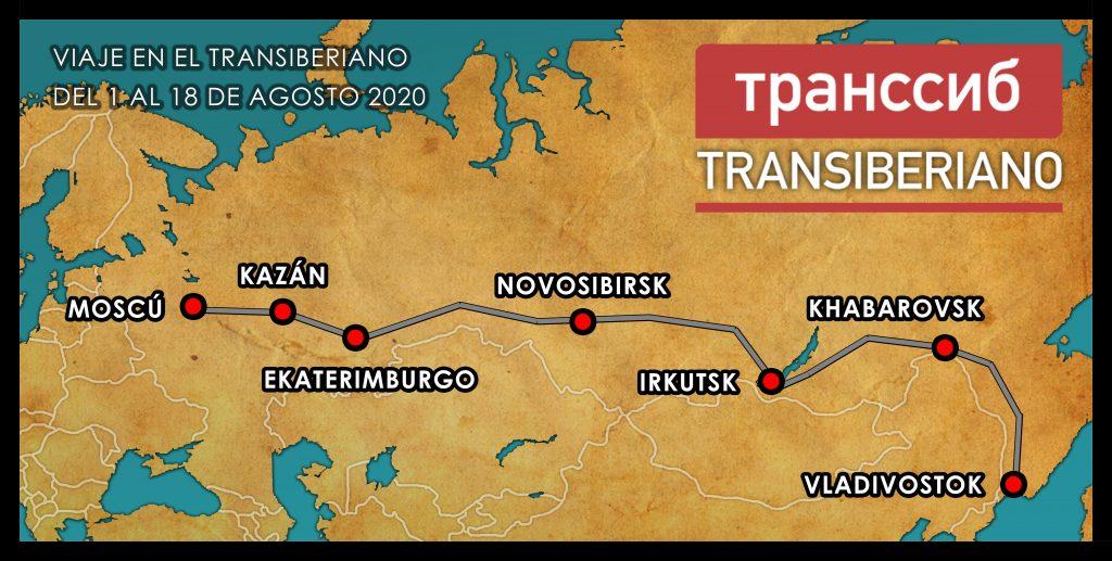 Mapa Ruta Transiberiano